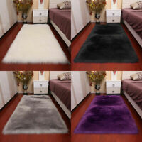 US Super Soft Fluffy Sheepskin Rugs Faux Wool Fur Rug Carpet Fur Mat Home Decor
