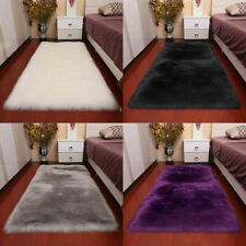 US Super Soft Fluffy Sheepskin Rugs Faux Wool Fur Rug Carpet Fur Mat Home Decor