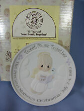 Precious Moments Anniversary signed 15 Years of Tweet Music Together medallion