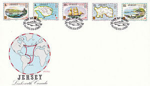 JERSEY 9 JUNE 1978 LINKS WITH CANADA OFFICIAL FIRST DAY COVER JERSEY SHS
