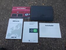 BMW 3 SERIES E36 MODELS 1991 -1998 GREY FOLDING WALLET WITH OWNERS MANUAL PACK