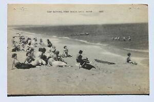 Old postcard SURF BATHING, FERRY BEACH, SACO, MAINE
