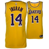 BRANDON INGRAM Autographed Los Angeles Lakers Nike Swingman Gold Jersey FANATICS