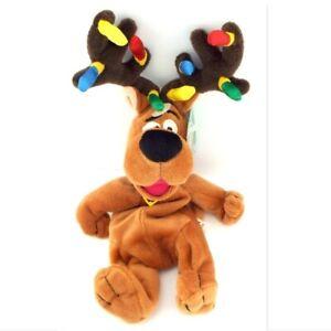 Scooby Doo Reindeer Warner Bros Bean Bag Plush Christmas New with Tags 1998