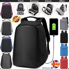 ANTI-THEFT BACKPACK USB PORT WATER REPELLENT CHARGING TRAVEL LAPTOP SCHOOL BAG