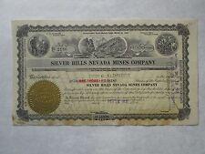 Silver Hills Nevada Mines Company   1920 Nevada Corporation