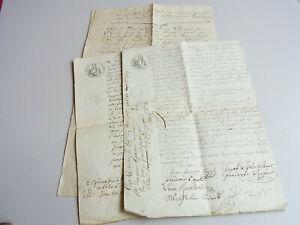 3 Treaties (Dt French Oberstein (Near) 1809-13 David Treibs Kauft u. A. Home