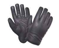 Mens Black Leather Motorcycle Full Finger Gloves 8241