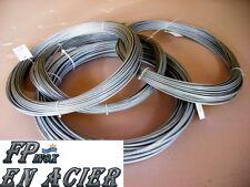 Cable Acier Diamètre 2-3 mm Acier Gaine PVC Transparent Souple Vendu Au Mètre