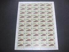 Barbuda 1968 Fishes 75c MNH Complete Full Sheet Cyl 1B-1B #S19