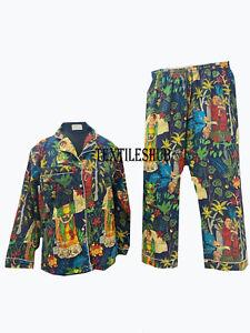 Frida Kahlo Blue Bridal Night Suit XL Size Indian Handmade Night Suit PJ Sets UK