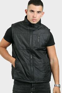 Mens Body Warmer Gilet Sleeveless Zip Pocket Collar Puffer Padded Bomber Jacket