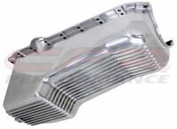 Polished Aluminum Finned 4 Quart Oil Pan For 86-02 Chevy Small Block 305-350 V8