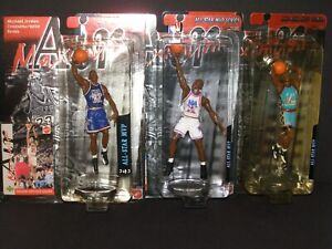1999 MATTEL MICHAEL JORDAN ALL-STAR MVP SERIES LIMITED EDTION SET OF 3 WITH CASE