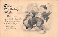 "Vintage ""Mine Birthday Wish"" 1915 Postcard"