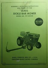 Sears Sickle Mower Implement Lawn Garden Tractor Owner & Parts Manual 917.251520