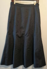 ORVIS signature collection wool maxi skirt lined Charcoal dark grey UKsz 12 - 14