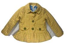 MATILDA JANE Girls Jacket SZ 6 Easy Going Button Up Yellow Knit