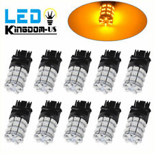10x Amber/Yellow 3157 3156 60 SMD LED Daytime Running Interior Light Bulbs 4157