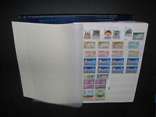 MNH STAMP ASSORTMENT ON STOCK PAGES-BRITISH AREAS!