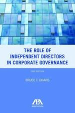 The Role of Independent Directors in Corporate Governance: An Update of The Rol