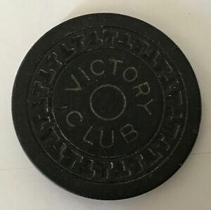 Victory Club Pittman NV $0.25 fractional casino chip just 348 made