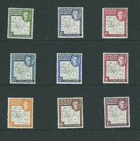 FALKLAND ISLANDS DEP. 1948  SET OF 9 MAPS THIN & CLEAR LIGHTLY MOUNTED MINT