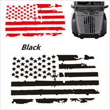 New listing 20''x35' 'Black Usa American Flag Sticker Decal For Car Truck Offroad Hood Window