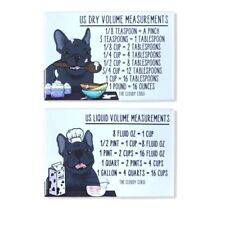 Black French Bulldog Dog Measuring Magnet Set Kitchen Cooking Baking Guide