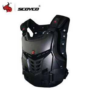 SCOYCO BLACK MOTOCROSS MX ENDURO BMX MOUNTAIN BIKE CHEST PROTECTOR SIZE LARGE