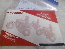 OEM Honda Owners Manual (Pg1-72)1985 ATC200M 00X31-VM3-6100