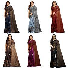 Designer Saree Ruffle Sari Party Wear Indian Blouse Bollywood Wedding Sari KP