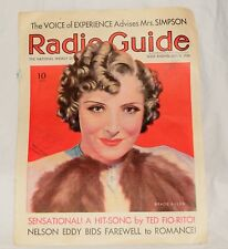 1936 Gracie Allen Radio Guide on Cover of The Madness of Moonlight Sheet Music