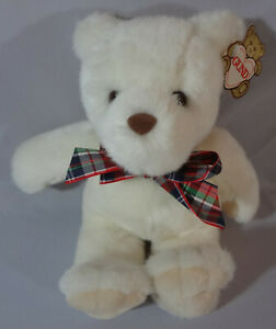 "1991 Vintage GUND TOBIAS Bear Style #2237 NWT White 12"" w/Ribbon Tag L@@K!"
