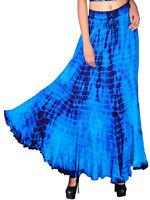 Womens plus size 18 20  22 24 Skirt Purple / turquoise tie dye long romantic