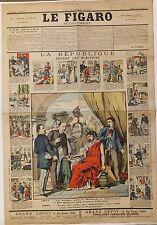 Figaro supplément, 30 Mars 1889, avec images d'Epinal, gravure sur bois Pellerin