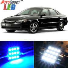 10 x Premium Blue LED Lights Interior Package for Ford Taurus 1999-2007 + Tool