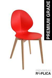 Basil Dining Designer Modern Retro Chair Replica - Red **PREMIUM QUALITY!!