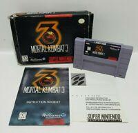 Super Nintendo SNES Mortal Kombat 3 Game Cartridge USA Copy (Not PAL) NTSC