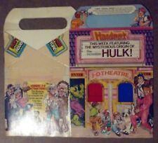 Incredible Hulk Hardee's 3-D Theater Box Giveaway! 1983 RARE