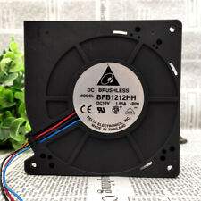 2 PCS DELTA BFB1212HH Cooling Fan DC 12V 1.65A 120mm x 120mm x 32mm 3 WIRE