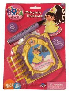 Rare Collectible Dora The Explorer Fairytale Notebook Dry Erase Jumbo Crayon New