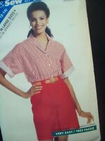 Vintage Butterick Pattern 3885 Shorts & Shirt Cut Sizes 6-8-10-12-14 *Easy Sew*