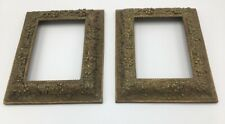 """A Pair of Vintage Plaster Gilt Picture Frames for Photos/Pictures Sized 7""""x 5"""""""