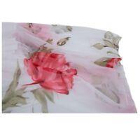 Dame Sommer Elegant Boho Lotusblatt Chiffon Kleid + weisser Blume Guertel O1E BS