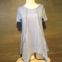Faded Glory Women's Short Sleeve Tee T-Shirt W/ Sharkbite Hem Size Small 4-6 NWT