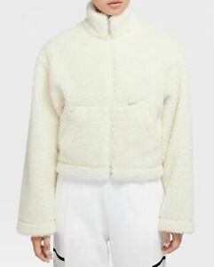 Nike Sportswear Swoosh Sherpa Jacket Womens Sizes S / M / L White CU6639-238