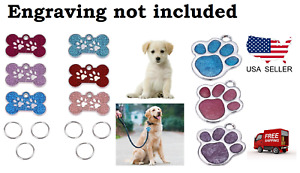Pet Dog Fashion Paw ID Tag Puppy Charm for Dogs and Cats Collar small cute zinc