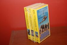 National Geographic 3-Pack VHS Wildlife Warriors, Lion of the Andes, Wings...NEW