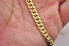 10K Gold Miami Link Chain 6mm Wide 24 Inch Cuban Link Chain Real Gold Mens Chain
